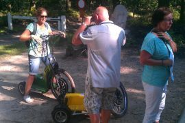 Met swingtrike over de Veluwe